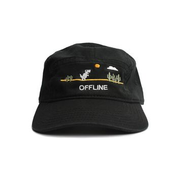 Offline Dino Embroidery 5 Panel Cap by Altru Apparel