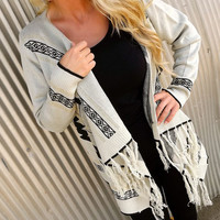 Gray Metallic Navajo Cardigan | The Rage