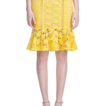 Premium Collection - Lemon Lace Skirt