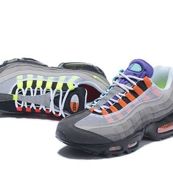 """""""Nike Air Max 95"""" Unisex Sport Casual Multicolor Air Cushion Sneakers Couple Running Shoes"""