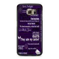 Supernatural Quote Wording Art Samsung Galaxy S6 case
