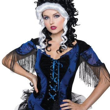 Victorian Black and White Wig