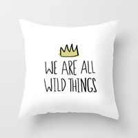 Wild Things Throw Pillow by Leah Flores