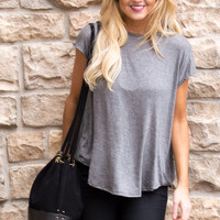 Jaydene Open Back Top- GREY