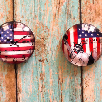 Cabinet Drawer Knobs Pulls Americana Home Decor Patriotic Home Decor Dresser Pulls Furniture Hardware
