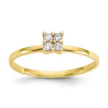 10K Yellow Gold CZ Promise Ring