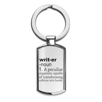 Writer Definition Funny  Premium Stainless Steel Key Ring| Enjoy A Unique  & Personalized Key Hanger To Carry Your Keys W/ Style| Custom Quality Prints| Household Souvenirs By Styleart