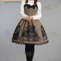 """Gothic&Classical Lolita, """"Baroque Pipe Organ"""" JSK/Dress*3color Instant shipping"""
