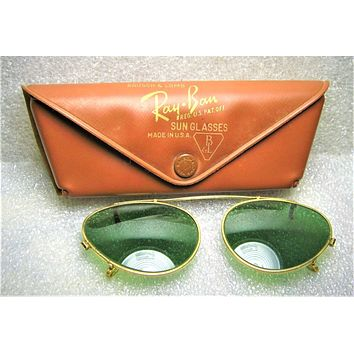 "Vintage Ray-Ban USA 1950s B&L Rare ""Clip-on"" *RB-3 48mm ""Cateye"" Excl Sunglasses"