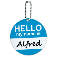 Alfred Hello My Name Is Round ID Card Luggage Tag