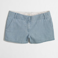 """Factory 3"""" chambray short : solid 
