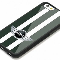 New Mini Cooper Style British Green Automotive iPhone 7 and 7+ Hard Plastic Case