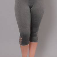 Plus Size Boot Camp Girl Leggings - Grey