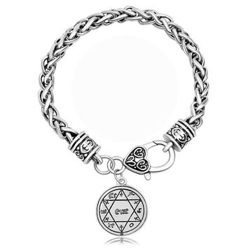 BijouxTalisman For Good Luck Key of Solomon Seal Pagan Wiccan Jewelry Supernatural Amulet Bracelets
