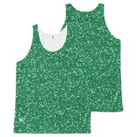 green glitter christmas time All-Over print tank top