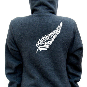 Feather - American Apparel Unisex Hoodie - XXS, XS, Small, Medium, Large, Extra Large, 2XL