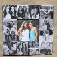 """Personalized Bridesmaid Picture Frame, Custom Collage Maid of Honor Frame, Wedding Photo Frame, 8"""" x 8"""""""
