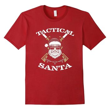 Funny Santa With Guns Ugly Christmas Sweater T Shirt