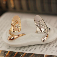 New Arrival Jewelry Shiny Gift Korean Stylish Strong Character Floral Diamonds Accessory Ring [6586077319]
