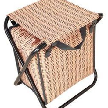 Perfect Faux Wicker Cooler Stool Bag