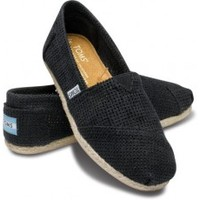 TOMS Freetown Black Women's Classics Slip-On Shoes,