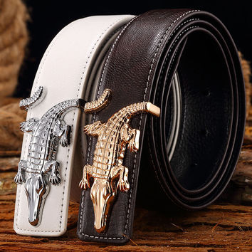 Men Belts Fashion Cowhide Leather New Designer Waistband Famous High quality genuine luxury Straps
