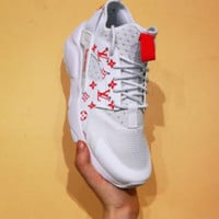Nike Air Huarache Supreme Lv White/Red Fashion Women/Men Casual Running Sport Shoes