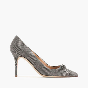 J.Crew Womens Elsie Plaid Pumps With Bow