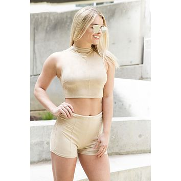 Nude Suede Set