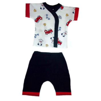 Baby Boys' Dalmatian & Fire Trucks Shorts Clothing Set