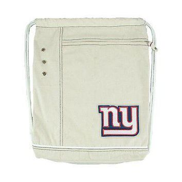 NFL New York Giants Vintage Cinch Backpack Drawstring Bag Football Sport Hipster