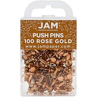 JAM Paper® Push Pins, Rose Gold Pushpins, 100/pack (22432063) | Staples®