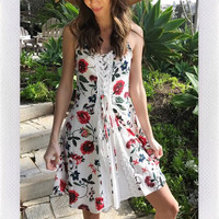 SPRING DREAMING DRESS- RED
