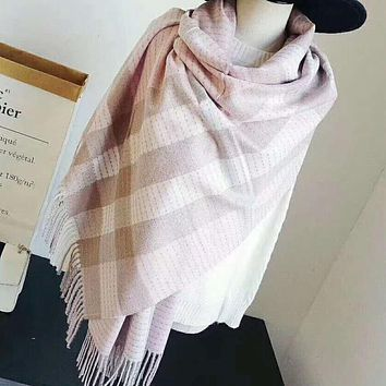 Burberry X  Fendi Fashion Women Men Casual Print Cashmere Scarf Scarves Shawl Accessories Light Pink I-TMWJ-XDH