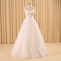 Ruched Sweetheart White/Red 2016 Wedding Gown with Sash Lace-up Bridal Dress