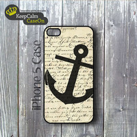 iPhone 5 Case, Vintage Anchor iPhone Case Hard Fitted iPhone 5 Case, iPhone 5 Hard Case