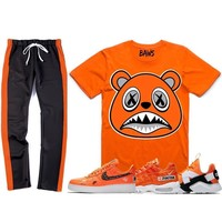 Nike Air Just Do It Sneaker Outfit - ORANGE BAWS - Track Pants + Shirt