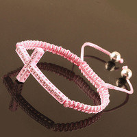Instafashion — Fashion Cross Bracelet - Pink