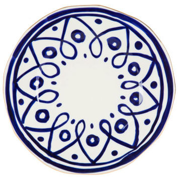 Dots & Loops Plate With Gold Rim - Large | Hobby Lobby | 5138516