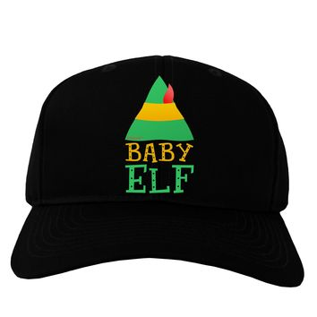 Matching Christmas Design - Elf Family - Baby Elf Adult Dark Baseball Cap Hat by TooLoud