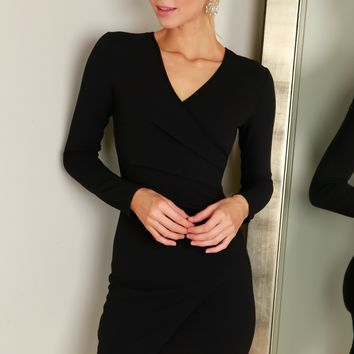 Wrap Bodycon Dress Black