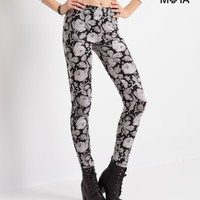 Aeropostale  High-Waisted Floral Lace Print Leggings
