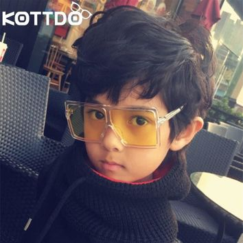 KOTTDO oversize square kids sunglasses girls baby boys festival punk sunglasses uv400 glasses children oculos de sol masculino