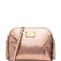 Michael Michael Kors Large Cindy Signature Dome Crossbody