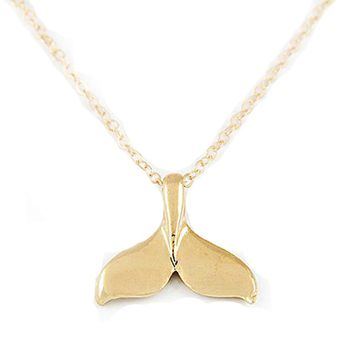 Whale Tail Pendant Necklace for Women (VN396)