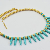 Sale 50% WOOD BEADS NECKLACE.