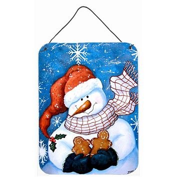 Gingerbread and Snowflake Snowman Wall or Door Hanging Prints PJC1012DS1216