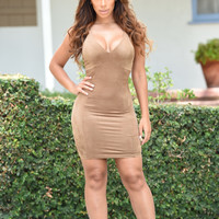 Alexa Dress - Taupe