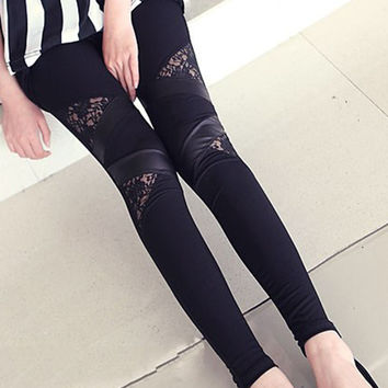 Cool Skinny Stretch PU Leather Pants