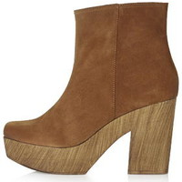 HITCH Suede '70s Clog Boots - Tan